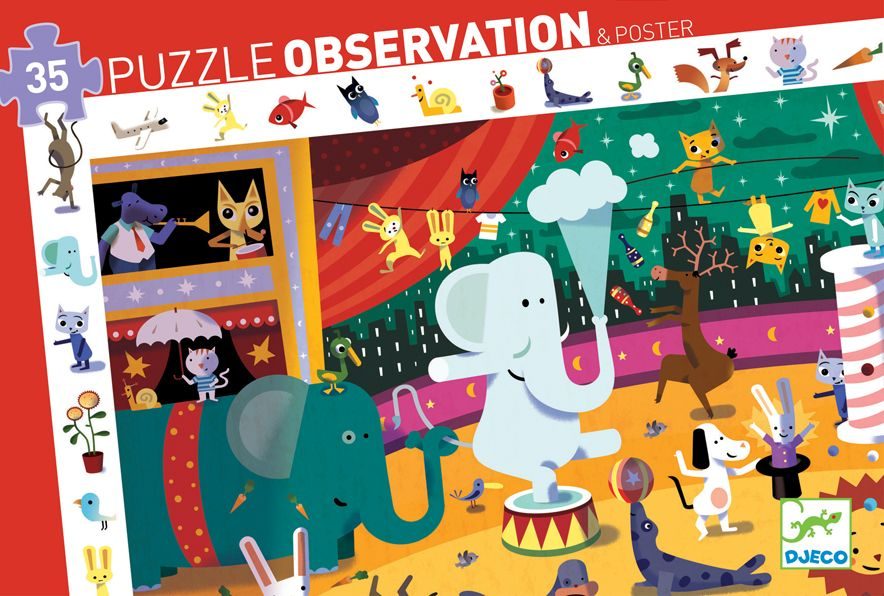 """Puzzle d'observation de 35 pièces """"Le cirque"""""""