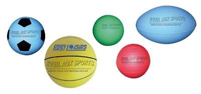 """Ballons """"Eveil aux sports"""" en mousse de PVC - Lot de 5"""