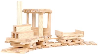 Planchette en pin naturel - Baril de 200 - Kapla   Jeux de construction sur Planet-eveil
