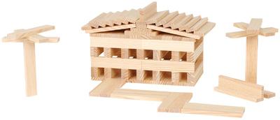 Coffret en bois de 240 planchettes carton de 6 kapla Maison en kapla