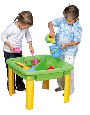 table sable et eau en plastique vinco educational jeux d 39 eau et de sable sur planet eveil. Black Bedroom Furniture Sets. Home Design Ideas