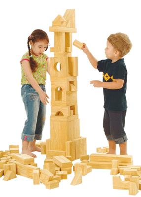 jouets educatifs jeux de construction jeu briques geantes en bois naturel p