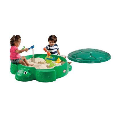 tortue bac à sable bicolore avec couvercle - little tikes | jeux d