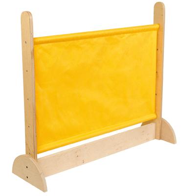 cloison en bois 2 pieds tissu jaune nowa szkola cloisons sur planet eveil. Black Bedroom Furniture Sets. Home Design Ideas