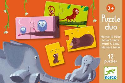 Puzzle duo 'Maman et bébé' - Boîte de 12