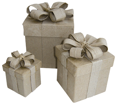 Bo tes cadeau en carton lot de 5 la fourmi objets en for Boite carton a decorer
