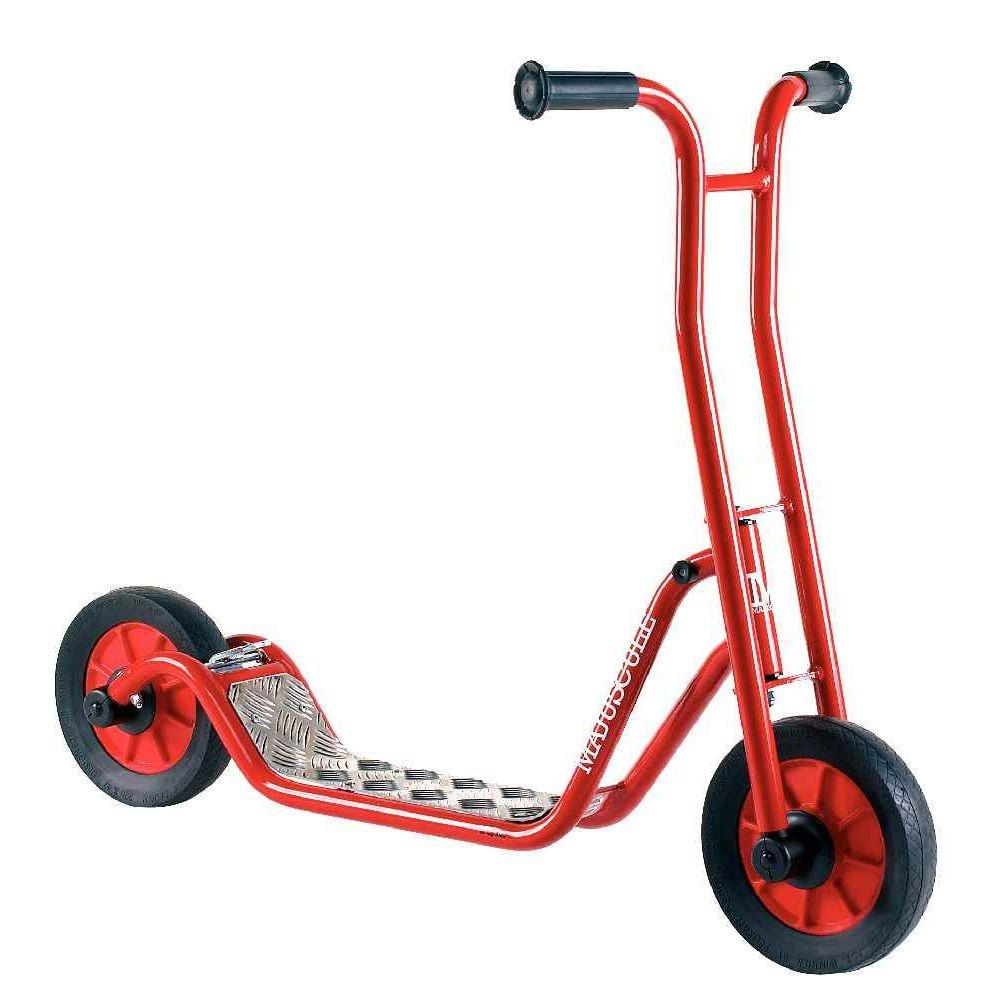 trottinette 2 roues 4 5 ans rouge generic trottinettes sur planet eveil. Black Bedroom Furniture Sets. Home Design Ideas