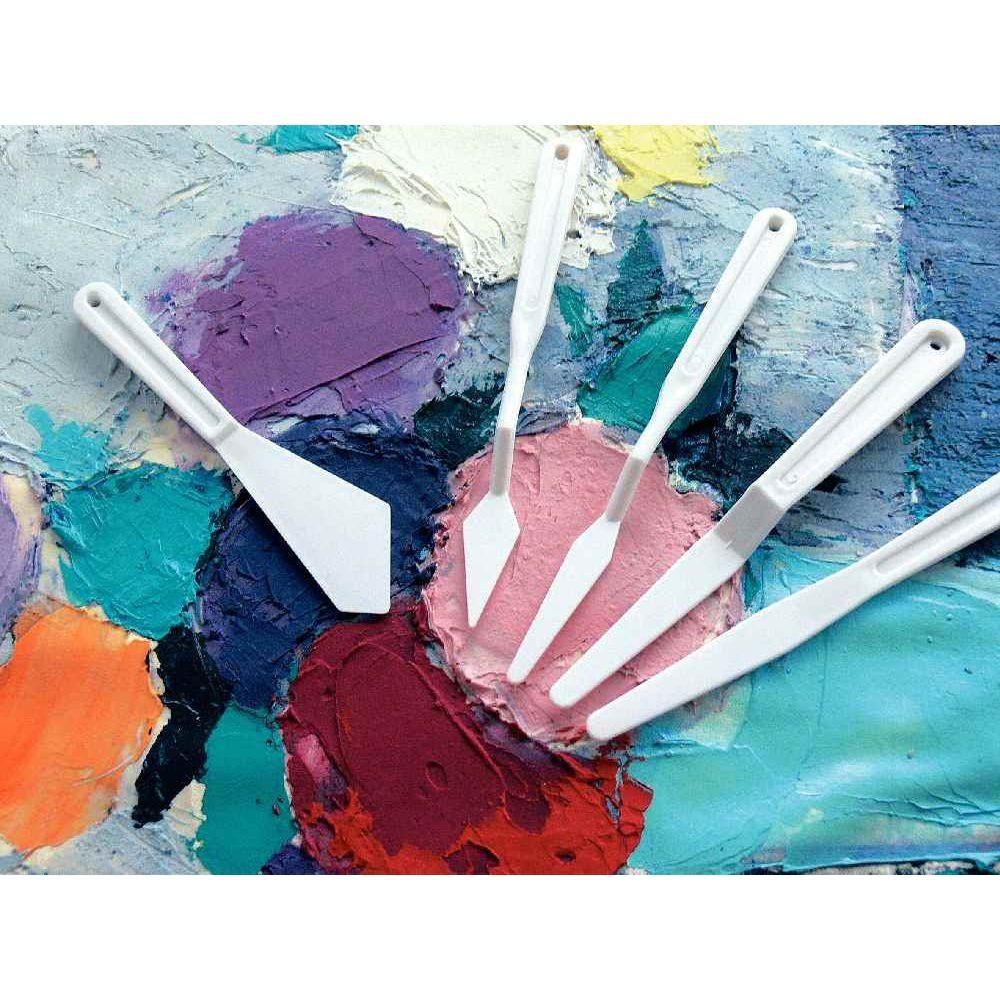 Couteaux à peindre en plastique - Pot de 40
