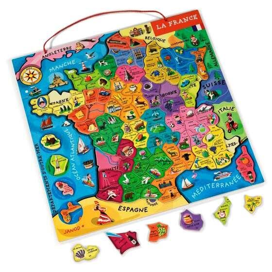 Carte Europe Janod.Puzzle Carte De France Magnetique 93 Pieces Janod Puzzles De
