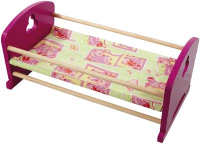 lit berceau en bois pour poup es structure en contreplaqu bouleau bouts de lits laqu s rose a. Black Bedroom Furniture Sets. Home Design Ideas