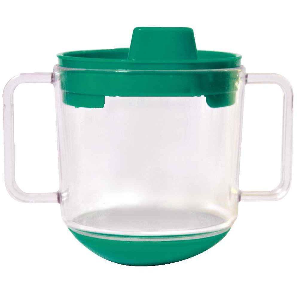 Tasse inversable verte en polypropylène