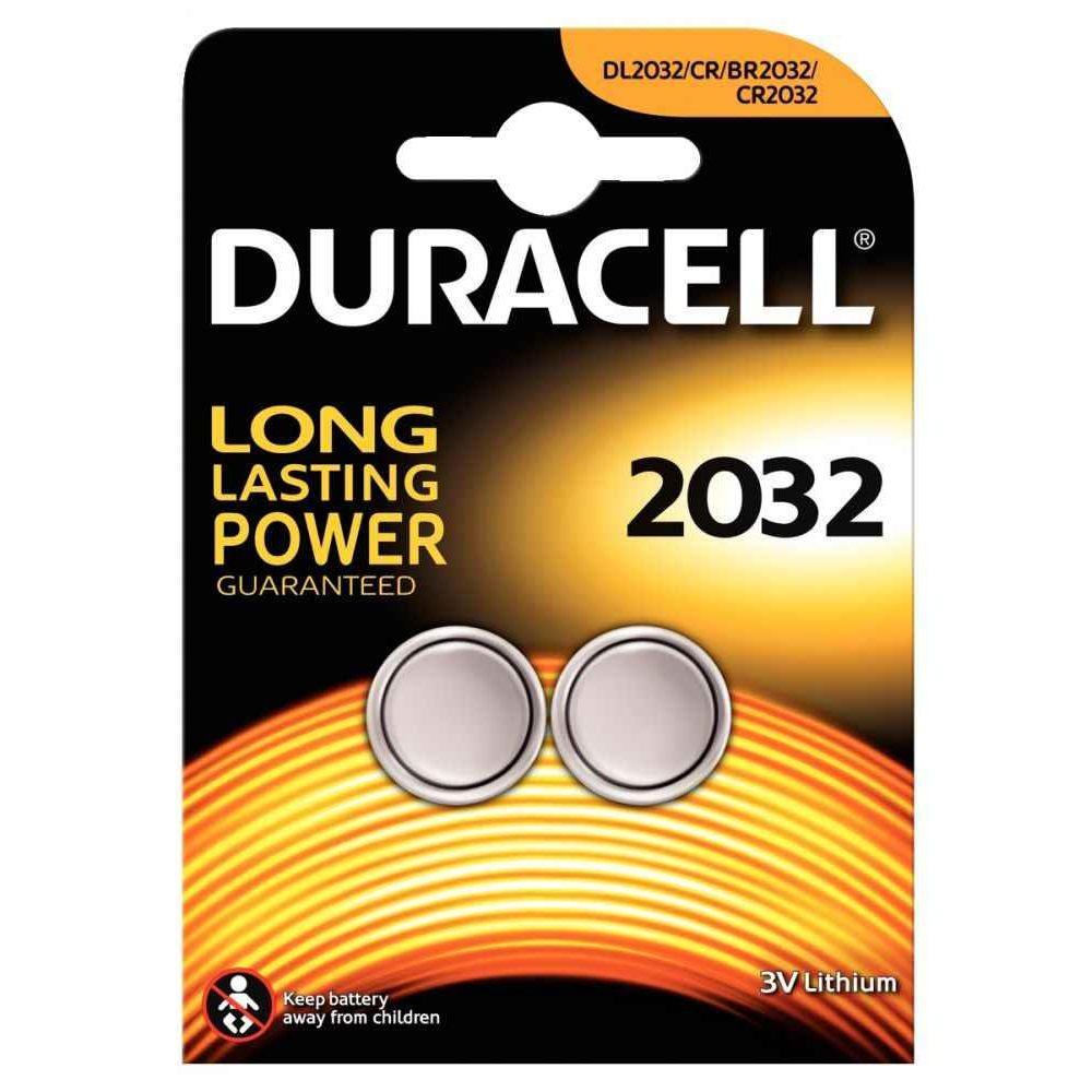 Piles lithium 3V CR2032 Duracell Electronics - Blister de 2
