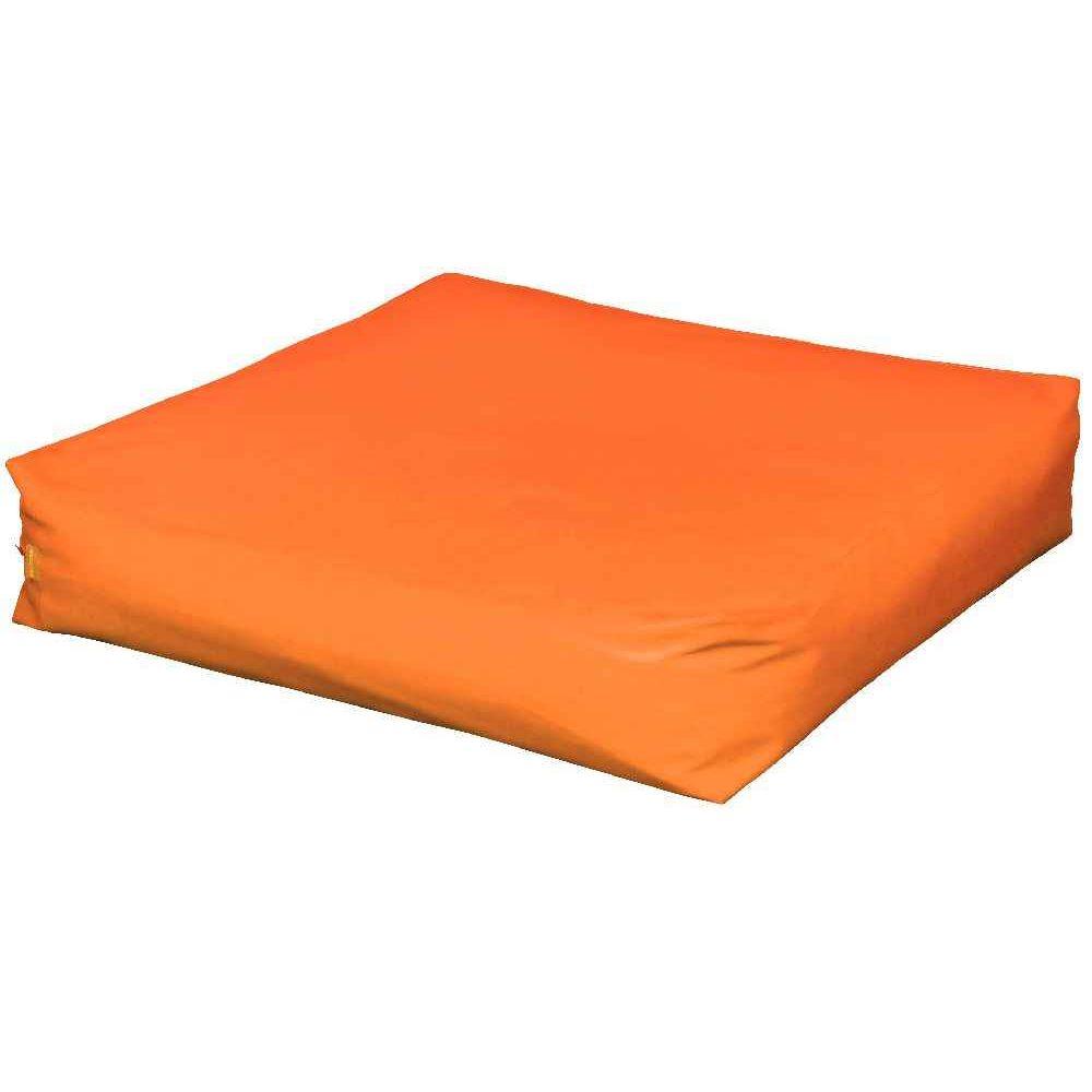 Pouf carr 120 cm orange poufs sur planet eveil - Housse pour pouf carre ...