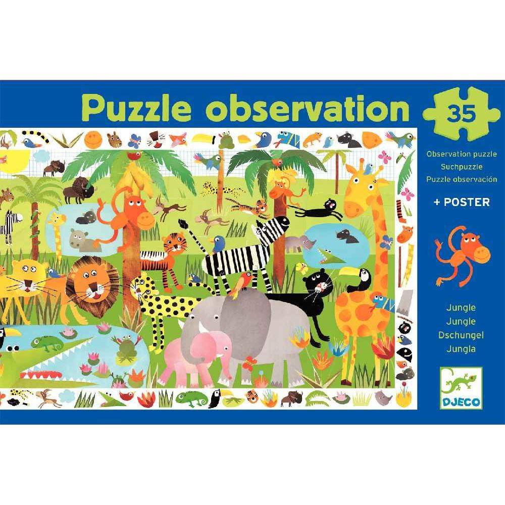 Puzzle d'observation de 35 pièces 'La jungle'