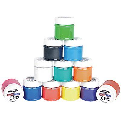 flacons 50 ml de vernis c ramique coffret de 12 generic peinture c ramique et porcelaine. Black Bedroom Furniture Sets. Home Design Ideas