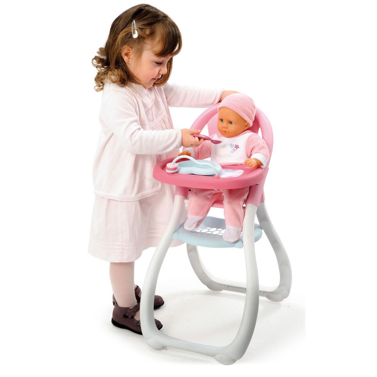chaise haute baby nurse pour poup es smoby accessoire de poup e sur planet eveil. Black Bedroom Furniture Sets. Home Design Ideas