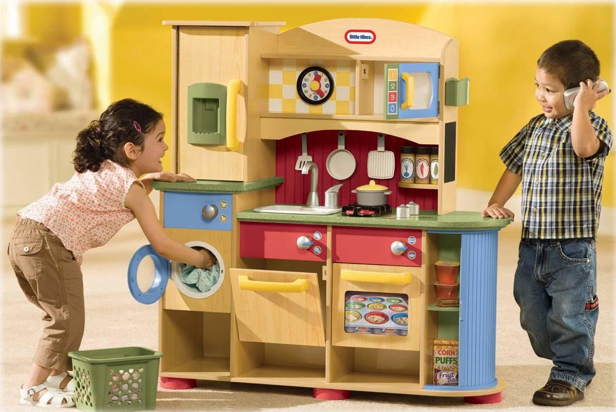 combin cuisine en bois 2 4 ans little tikes meubles. Black Bedroom Furniture Sets. Home Design Ideas