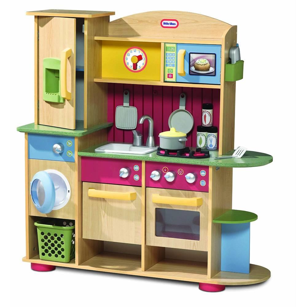 combin cuisine en bois 2 4 ans little tikes meubles de cuisine sur planet eveil. Black Bedroom Furniture Sets. Home Design Ideas